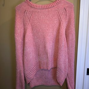 Chenille Pink Sweater (NWOT)💕